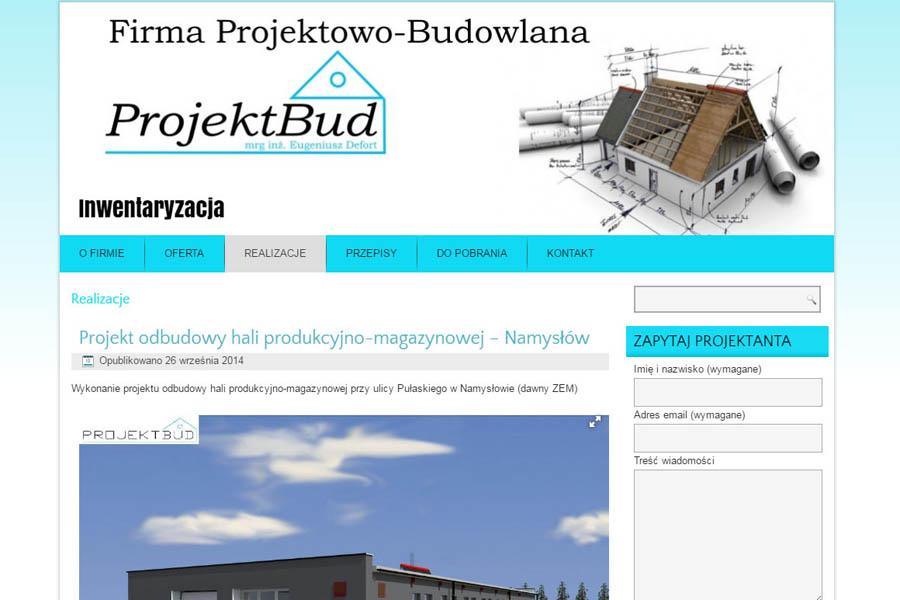 "FIRMA PROJEKTOWO-BUDOWLANA ""PROJEKTBUD"""